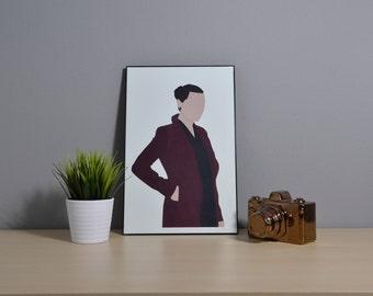 Lena Luthor | Supergirl | Digital Art | 11x17 Poster | Supergirl Wall Art | Supergirl Art | Supergirl Print | Lena Luthor Art | Supercorp