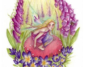 Original Watercolour Painting ~  Bee Magical!