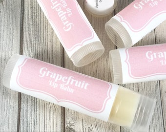 Grapefruit Lip Balm | Lip Gloss | Citrus Lip Balm | Beeswax Lip Balm | Organic Lip Balm | Mothers Day Lip Balm | Grapefruit Chapstick |