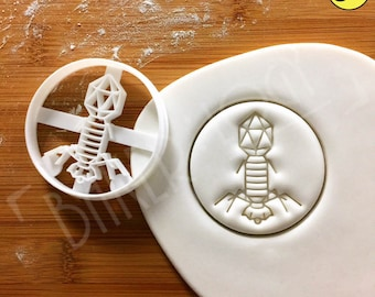 Virus cookie cutter | Bacteriophage biscuit cutters phage Bacteriophages Microbiology Microbiologist phages laboratory science microorganism