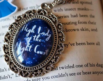 High Lady of the Night Court - A Court of Mist and Fury inspired necklace- ACOMAF bookish gift- Rhysand and Feyre - Night Court necklace