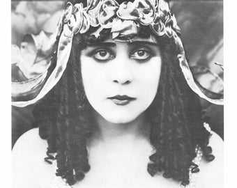 Theda Bara, Giclee Art Print, Old Hollywood, Hollywood, Celebrities, Silent Film Stars, Hollywood Glamour, Hollywood Regency, 1920s, Giclee