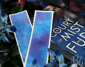 Galaxy Watercolor Bookmarks