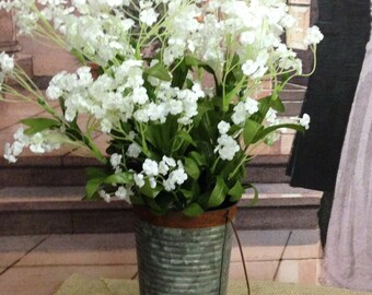 "NWT Artificial Gypsophila Bouquets Silk Flowers Baby's Breath - 19"" in White"