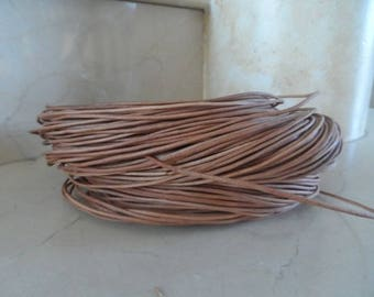 5 meters of natural cow leather 1 mm cord