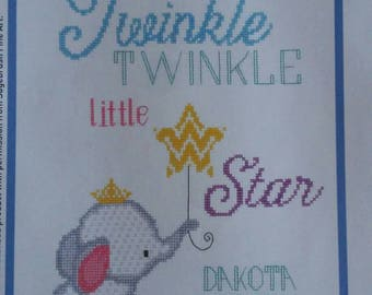 Completed cross stitch, baby cross stitch, boy or girl gift