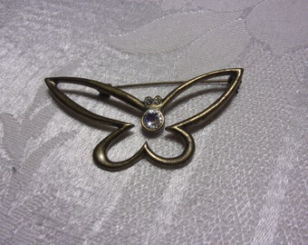 Vintage butterfly brooch, estate jewelry