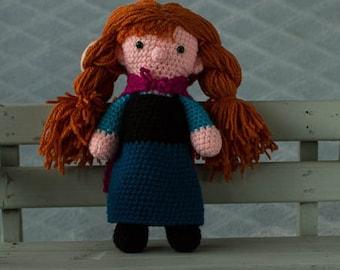 handmade crochet cuddle toy Anna