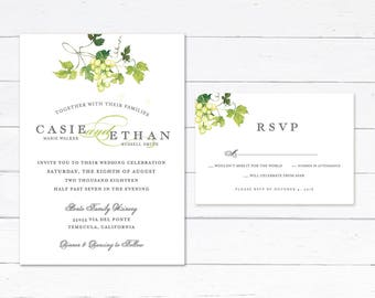 Vineyard invitations Etsy