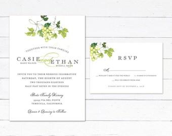 Vineyard Wedding Invitations, Winery Wedding Invitations, Wine Country, Elegant Vineyard Winery Invitation, Classy Winery Invitation,