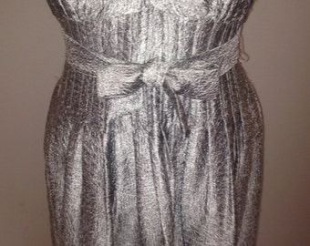 On hold do not purchase Vintage Silver Lame Dress
