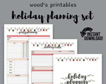 Holiday Planner PDF; Christmas Planner, Holiday Organizer, Christmas Organizer, Gift Planner, Gift List, Party Planner, Cleaning List PDF