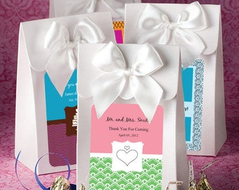 72 Personalized White Delivered With Love Candy Favor Boxes Bridal Shower Wedding Favors