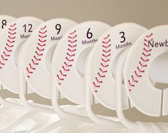 6 baby closet dividers (No.196) baseball sports boy clothes divider baby shower gift boy nursery closet organizer Closet Doodles®
