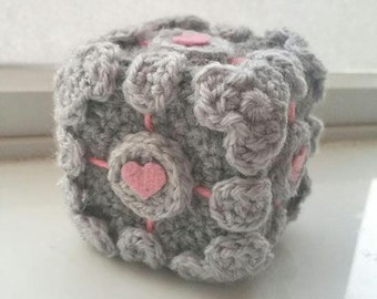 Companion Cube - Portal Inspired - Crochet Amigurumi