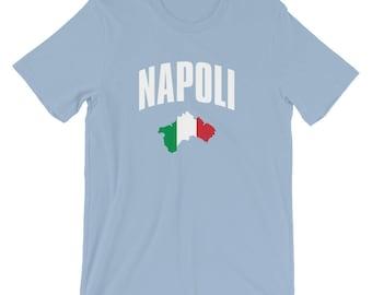 Men's Napoli T-Shirt - Naples, Italy Map & Italian Flag Tee-Shirt