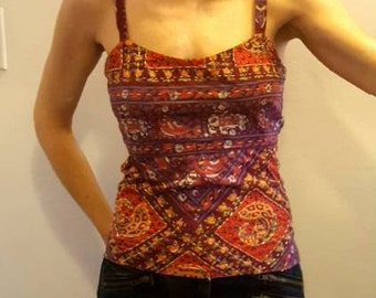 Open back bohemian top