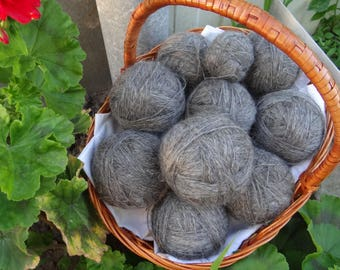 Downy spun yarns are hand-spun-the goose down from the goats of the Don.