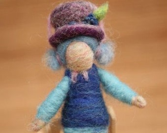 Needle Felted Blueberry Muffin, Original design by Borbala Arvai