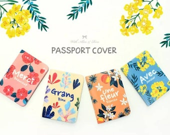 JParadise - Flower Passport Cover/ Passport Holder/ Passport Case/ Travel Wallet/ Travel Gift (4 Styles)