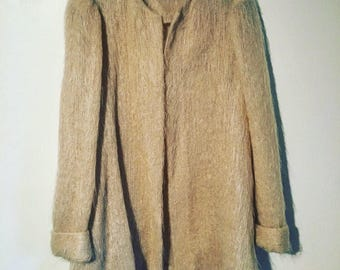 Vintage Mohair Puff Sleeve Swing Jacket Sweater