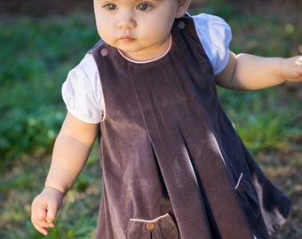 Pleated Pinafore PDF Pattern (size 6-12 months)