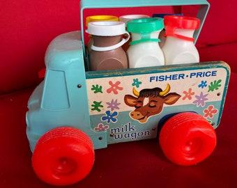 Original Vintage Fisher Price Milk Wagon #131