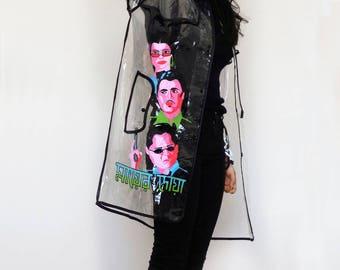 Raincoat - Transparent, Hand-painted, Waterproof, Rickshaw Paint