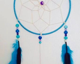 Turquoise and Purple Dream Catcher