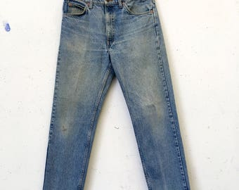 Vintage Well-worn Great Fade Levis 505 34W29.5L