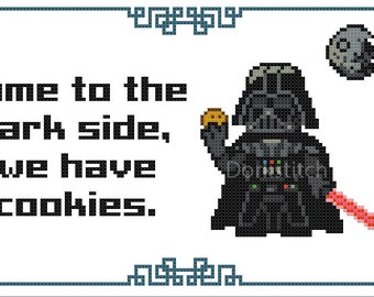Darth Vader - Come to the Dark Side we have Cookies - PDF Cross-stitch pattern - Instant Download!