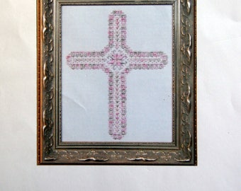 Spring Cross A Stitch And A Prayer By Vicki Schofield Embroidery Pattern  Chartpack 2003