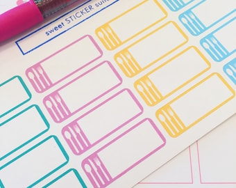 16 Meal Planning Planner Stickers- Meal Prep Stickers- perfect in your Erin Condren planner, Plum Paper planner, wall calendar or scrapbook