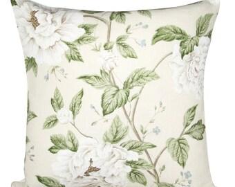 Sanderson Peony Tree Cream & Ivory Cushion Cover