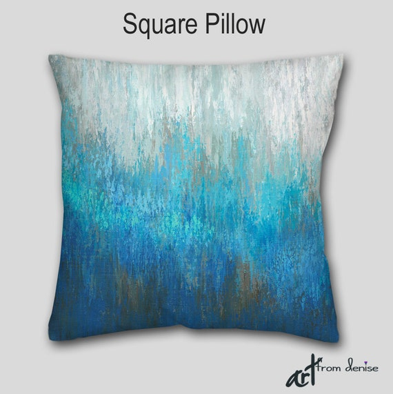 throw pillow teal turquoise aqua abstract accent 87861