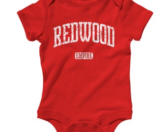 Baby One Piece - Redwood Empire California - Infant Romper - NB 6m 12m 18m 24m - Baby Shower Gift, Redwood Empire Baby, North Coast Baby
