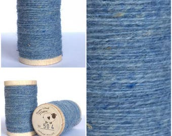 Rustic Moire Wool Thread #504 for Embroidery, Wool Applique and Punch Needle Embroidery