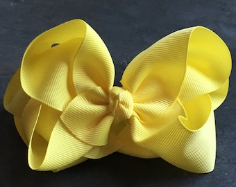 Buttercup Yellow 6 Inch Double Stacked Bow