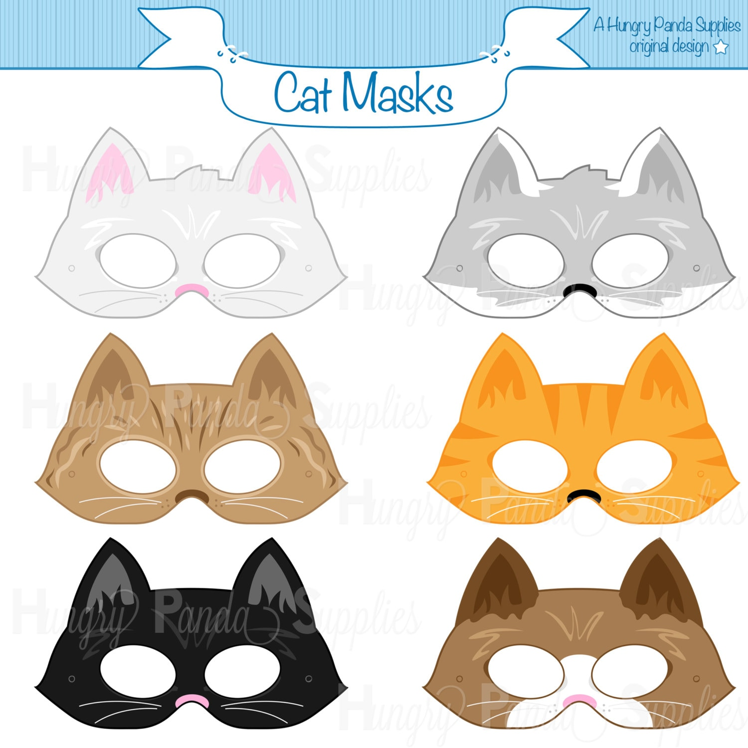 It is a photo of Unforgettable Cat Mask Printable