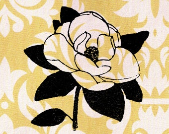 Magnolia Stamp: Wood Mounted Rubber Stamp