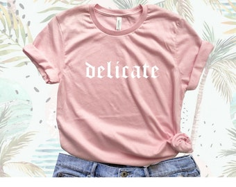 Taylor Swift Reputation Shirt. Delicate Lyrics Shirt. Taylor Swift tshirt. Taylor Swift Shake it off. Taylor Swift Big Reputation Tour Shirt