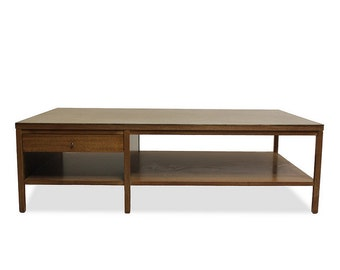 mad men furniture. Mid Century Modern Coffee Table Paul McCobb For Calvin Irwin Collection, Leather-Topped Walnut Mad Men Furniture