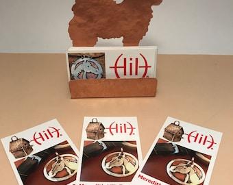 Samoyed Business Card Holder, Copper Desk Accessory, Samoyede gifts, gift for dog lover, Samoyed items, dog gifts