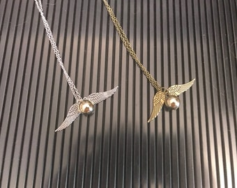 Harry Potter Quidditch Golden Snitch Inspired Necklace