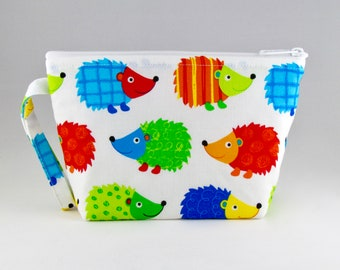 Hedgehog Makeup Bag - Accessory - Cosmetic Bag - Pouch - Toiletry Bag - Gift