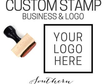 Custom Stamp for Business, Personal, Weddings, Custom Rubber Stamp with your Logo, Invitation or Save the Date, Business Logo Stamp Branding