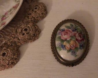 1930's Limoges brooch