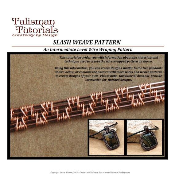 TUTORIAL: Wire Weaving Pattern Slash Weave Design Wire Wrap