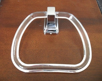 Taymor 01-303 Lucite Towel Ring & Polished Chrome Hanger
