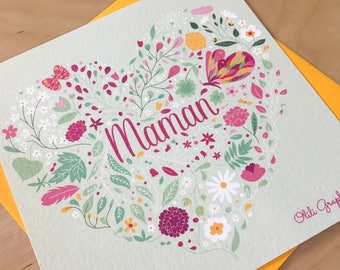 'MOM' mother's Day card